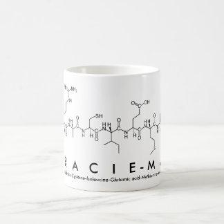 Taza del nombre del péptido de Gracie-Mae