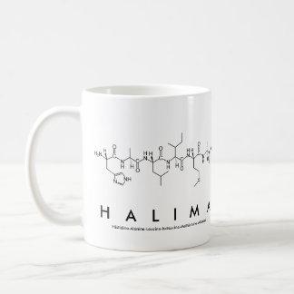 Taza del nombre del péptido de Halima