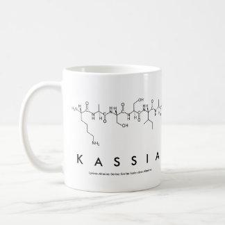 Taza del nombre del péptido de Kassia