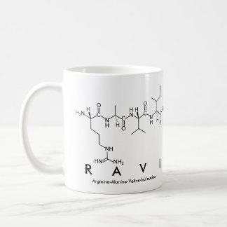 Taza del nombre del péptido de Ravi