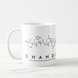 Taza del nombre del péptido de Shanda