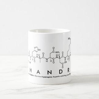 Taza del nombre del péptido de Shandra