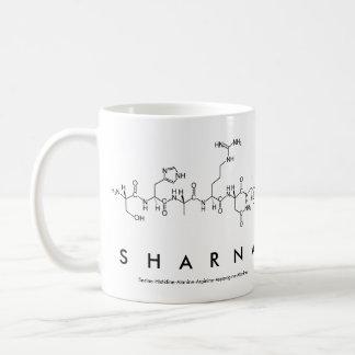 Taza del nombre del péptido de Sharna