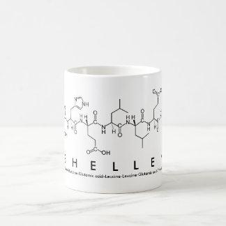 Taza del nombre del péptido de Shelley