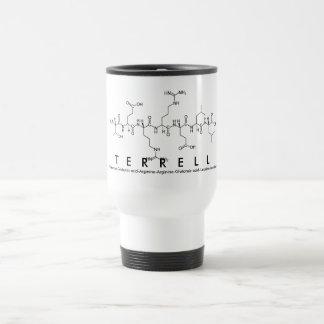 Taza del nombre del péptido de Terrell