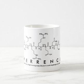 Taza del nombre del péptido de Terrence