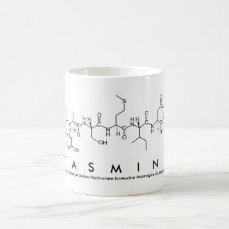 Taza del nombre del péptido de Yasmina