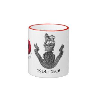 Taza del norte leal del regimiento de WW1 Lancashi
