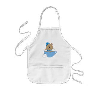 Taza del oso de la nieve del bebé de Cutelyn Delantales