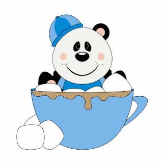 Taza del oso de panda de la nieve del bebé de Cute Escultura Fotográfica