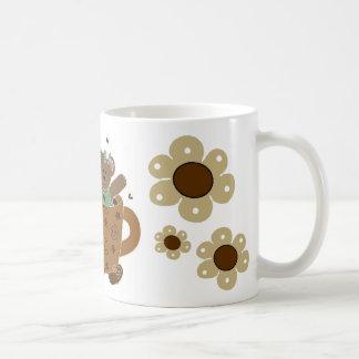 Taza del oso de peluche del tiempo del té