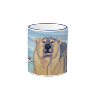 Taza del oso del arte de la fauna de la taza de ca