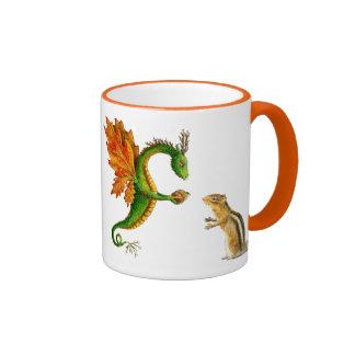 """Taza del otoño del dragón del roble """"amo"""""""