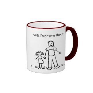Taza del padre y de la hija (nombres del personali