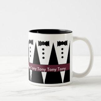 Taza del padrino de boda de TONY - Tuxes blancos y