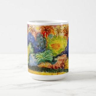 Taza del paisaje de Gauguin Tahitian