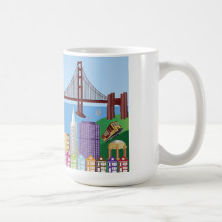 Taza del paisaje urbano de San Francisco