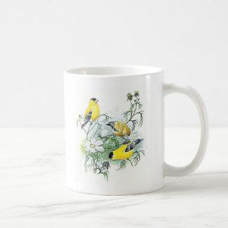 Taza del pájaro - Goldfinch