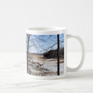 Taza del pantano del invierno