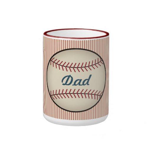 Taza del papá del béisbol del vintage