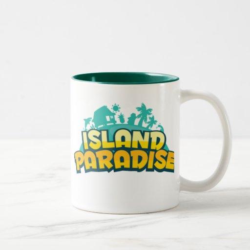Taza del paraíso de la isla