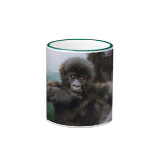 Taza del partidario de la fauna de los primates