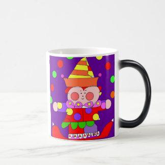 taza del payaso del dibujo animado