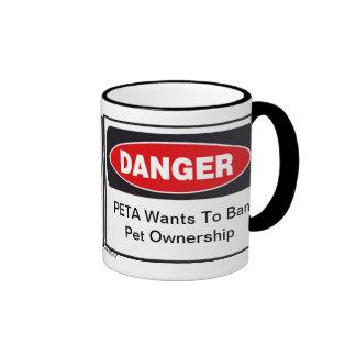 Taza del peligro PETA