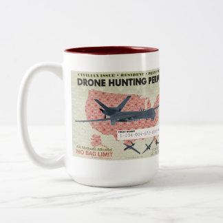 Taza del permiso de la caza del abejón