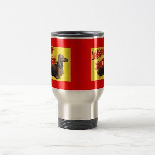 Taza del perrito caliente del Dachshund