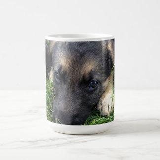 Taza del perrito del pastor alemán