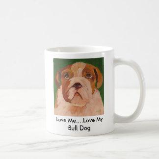 Taza del perro de Bull de amor