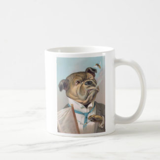 Taza del perro del negocio del vintage