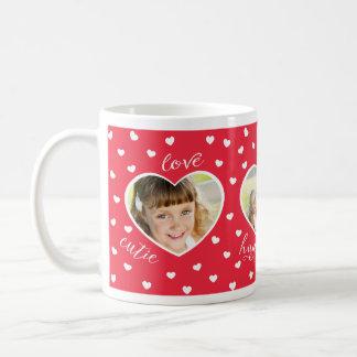 Taza del personalizado de la foto de los amores 3