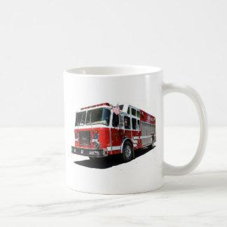 Taza del personalizado del coche de bomberos