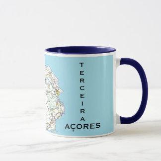 Taza del personalizado del mapa de Azores