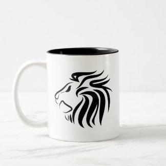 Taza del pictograma del león