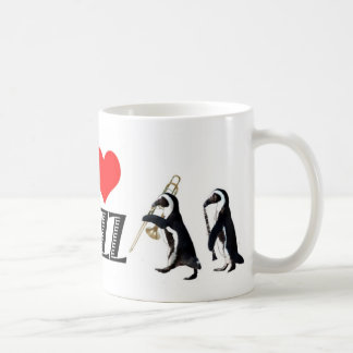 Taza del pingüino del jazz