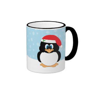 Taza del pingüino del navidad