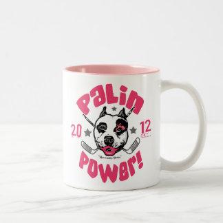 Taza del pitbull 2012 del poder de Palin