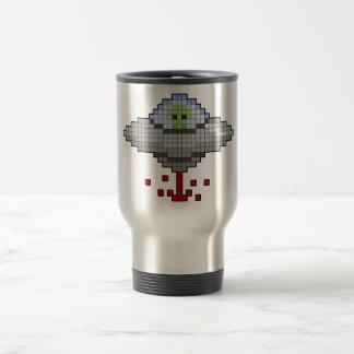 Taza del platillo volante del pixel