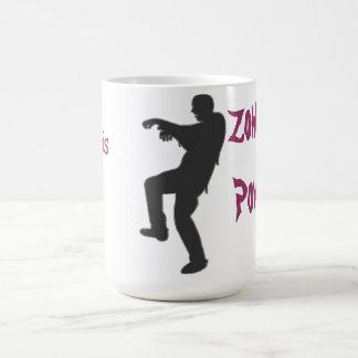 Taza del poder del zombi - personalizada con nombr