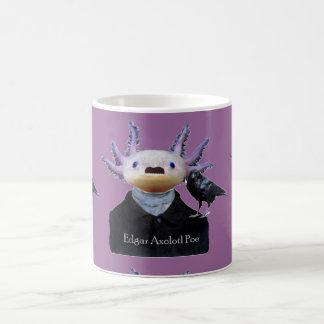 Taza del Poe del Axolotl de Edgar