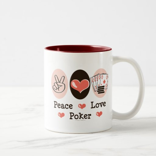 Taza del póker del amor de la paz