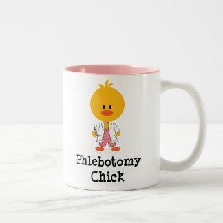 Taza del polluelo de la flebotomía