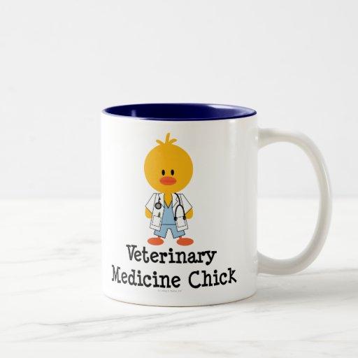 Taza del polluelo de la veterinaría