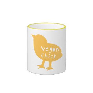 Taza del polluelo del vegano