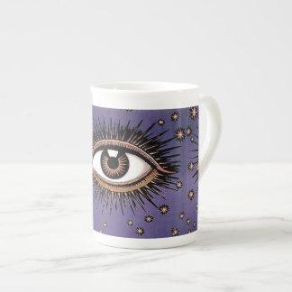 Taza del poster del ojo taza de porcelana