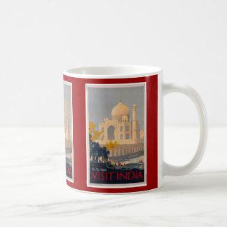 Taza del poster del Taj Mahal - la India de la