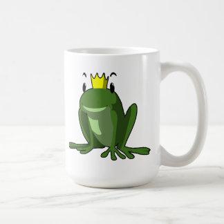 Taza del príncipe café de la rana